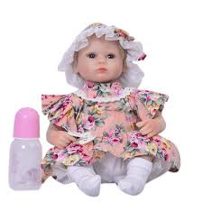 18 Inch/43CM Baby Doll Toy Silicone with Magnetic Pacifier Clothes ...