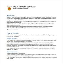 8 It Support Contract Templates Word Google Docs Pdf