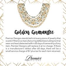 Premier Designs Jewelry Logo Golden Guarantee Premier Designs Jewelry Premier Jewelry