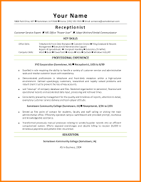 Front Desk Receptionist Resume Receptionist Resume Key Skills Therpgmovie 54