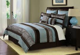 gray and brown bedroom. blue brown bedroom pictures classic pattern roll up curtains sky wall paint gray platform and