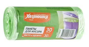 """<b>Пакеты для мусора</b> """"<b>Хозяюшка</b> Мила"""", цвет: салатовый, 30 л, 30 ..."""