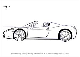 how to draw a ferrari sports cars