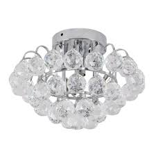 homcom modern ball crystal ceiling light chandelier lamp kitchen bedroom etc