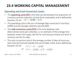 23 4 working capital management