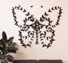 Black 3D Butterfly Wall Art