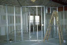 framing a wall. Interior Walls Constructed With Metal Framing. Framing A Wall