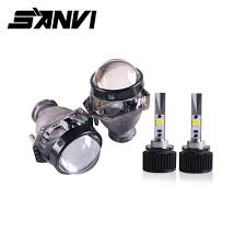 <b>Sanvi 2pcs</b> D2H 5500K 3000K White Yellow Dual Color LED ...