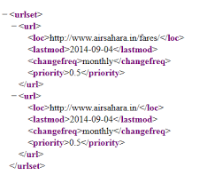 how do i set main url a priority of 1 0 and subdirectory urls priority of 0 5 in sitemap xml