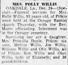 "Obituary for Mary ""Polly"" (Maricle) Willis - Newspapers.com"