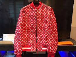 louis vuitton tracksuit. supreme x louis vuitton leather blouson jacket tracksuit