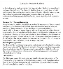 Wedding Photography Contract Template Suitable Templates Basic ...