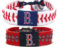red sox baseball seam wristbands