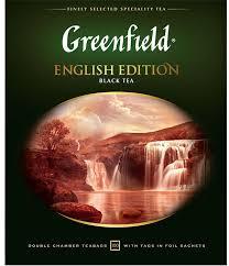<b>Черный чай</b> в пакетиках <b>Greenfield English</b> Edition, 100 шт ...