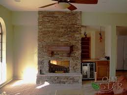 stacked stone interior fireplace with stacked stone in phoenix az