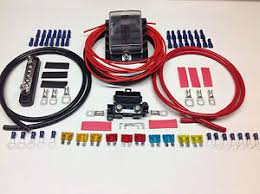 switch panel wiring kit 10way fuse box negative bus bar cable image is loading switch panel wiring kit 10way fuse box negative
