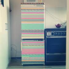 Washi Tape Kitchen Cabinets My Customized Fridge With Masking Tape Diy Washi Tape Kitchen