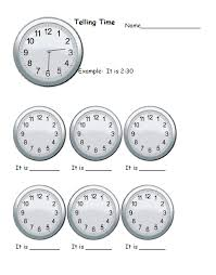 Learning to tell time worksheets FREE Download and a video goes ...