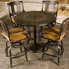 outdoor pub tables sets lacetothetop outdoor wood bar height table stools