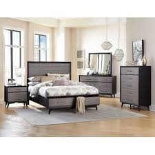 gray king bedroom sets. contemporary gray \u0026 black 6-piece california king bedroom set - raku sets o