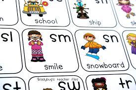 Consonant Blends Anchor Chart Consonant Blends Chart Printable Ladybugs Teacher Files