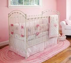 image of pink crib bedding set picture