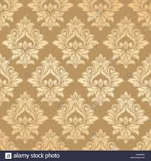 Gold Damask Background Vector Vintage Gold Card With Seamless Damask Pattern Eps 10