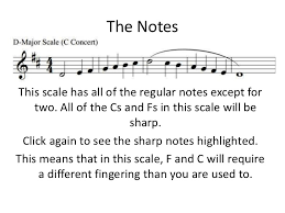 D Major Clarinet Scale For Sydney