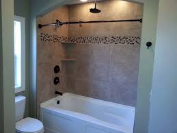 Fascinating Bathroom Shower Tub Tile Ideas Nice Window Without Wall