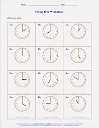Clock Worksheets for First Grade – dailypoll.co