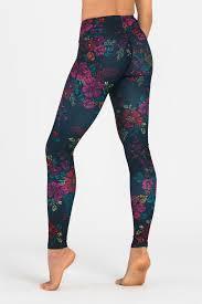 Patterned Yoga Pants Gorgeous Dharma Bums Yoga Leggings Tropical Night Yoga Emporium