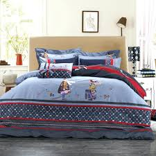 denim bedding set cotton denim bedding set lovely character bed sheet duvet cover bedclothes whole denim denim bedding set