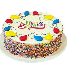 Amazoncom Triolos Bakery Vanilla Birthday Cake Happy Birthday