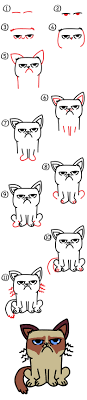 easy grumpy cat drawing.  Easy With Easy Grumpy Cat Drawing