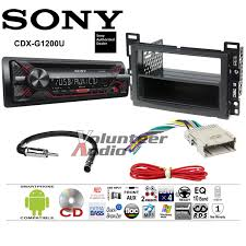 details about sony cd player car stereo radio install dash kit wiring harness antenna