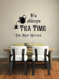 dining room wall stickers india. alice in wonderland wall decal quote vinyl sticker decals quotes it\u0027s always tea\u2026 dining room stickers india