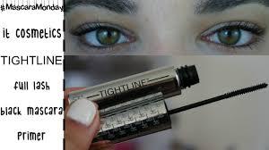 it cosmetics tightline mascara demo review mascara mondays