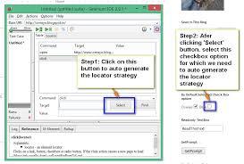 Selenium-By-Arun: Using click command in Selenium IDE for selecting ...