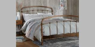Buy Shoreditch Metal King Bed Metal Copper from the Next UK online shop