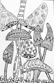 Surprising Trippy Mushroom Coloring Pages Shroom Google Search