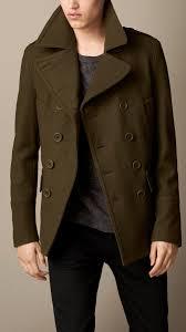 burberry brit wool cashmere pea coat