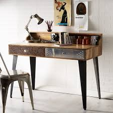 sorio reclaimed wood console table wood writing deskwood