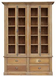wood bookcase with glass doors furniture wood bookcase with doors new solid for less