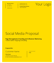 Social Media Proposal Template Social Media Proposal Templates 20 Free Word Pdf