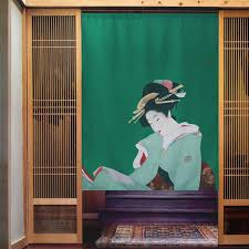 Nice Curtains Japanese Style Partition Curtain Cloth Door Hanging Curtain  Japanese Beauty Door Curtain