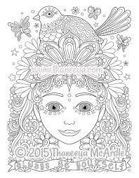 bird hair coloring page from free spirit coloring book