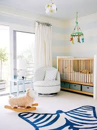 Modern Blue and White Nursery