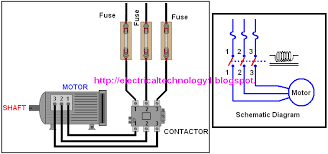 a simple circuit diagram of contactor three phase motor
