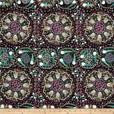 bush food plum bush banana black from fabricdotcom designed by laurel tanlels for m s textiles australia this cotton print fabric features an abstract