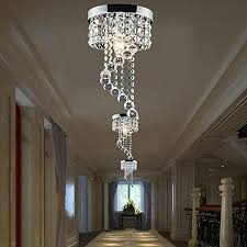 generic modern led galaxy spiral crystal chandelier lamp fixture lighting pendant decor 220v